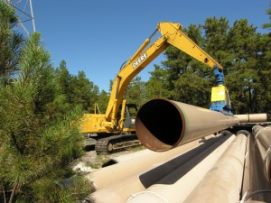 Moving Natural Gas pipes